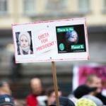 Pancarte marche climat Greta thunberg president